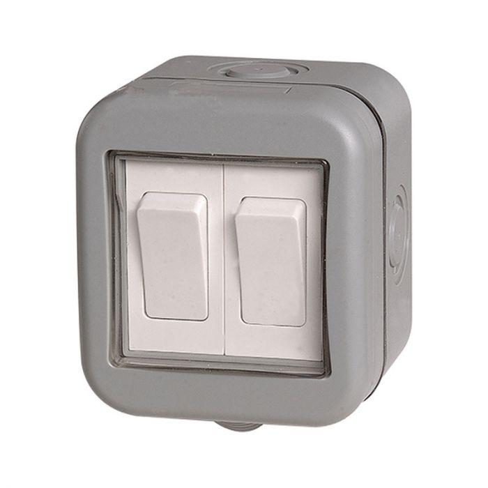 Outdoor 2 Gang 2 Way Switch - IP55 - Lighting Direct