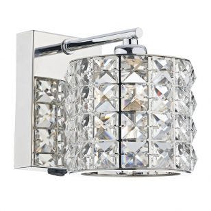 Dar Agneta Wall Light - Polished Chrome