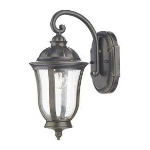Dar Johnson Outdoor Hanging Lantern Wall Light - Black