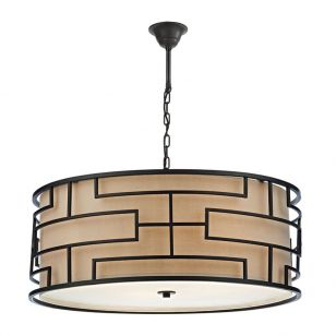 Dar Tumola 4 Light Ceiling Pendant Light - Bronze