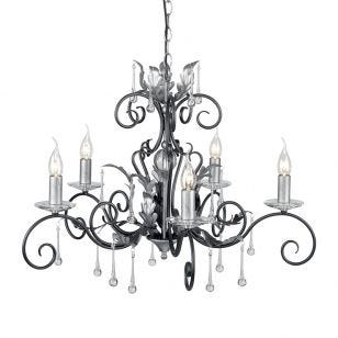 Elstead Amarilli 5 Light Chandelier - Antique Silver
