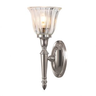 Elstead Dryden Fluted LED Wall Light - Polished Nickel