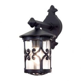 Elstead Hereford Outdoor Hanging Lantern Wall Light - Black