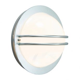 Norlys Bremen Outdoor Flush Wall Light - Galvanised Steel
