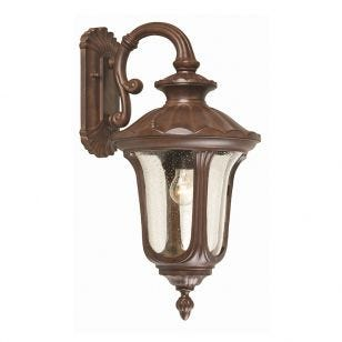 Elstead Chicago Outdoor Hanging Lantern Wall Light - Bronze