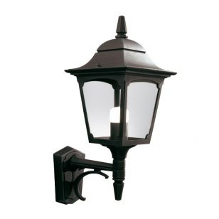 Elstead Chapel Outdoor Lantern Wall Light - Black