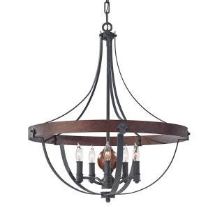 Elstead Alston 5 Light Chandelier - Charcoal