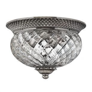 Hinkley Plantation Flush Ceiling Light - Antique Nickel