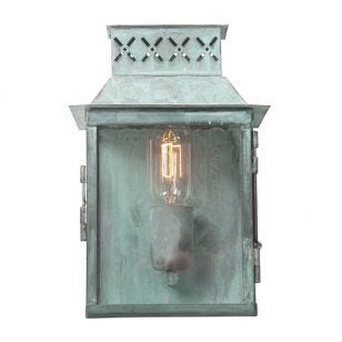 Elstead Lambeth Palace Half Lantern Outdoor Wall Light - Verdigris