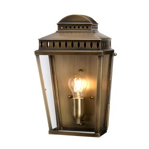 Elstead Mansion House Half Lantern Outdoor Wall Light - Aged Brass