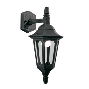 Elstead Parish Mini Outdoor Hanging Lantern Wall Light - Black