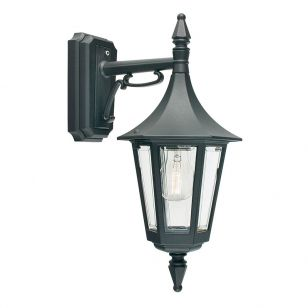 Elstead Rimini Outdoor Hanging Lantern Wall Light - Black