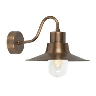 Elstead Sheldon Outdoor Wall Light - Aged Brass
