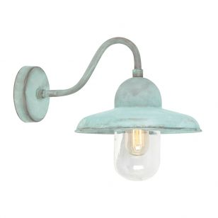 Elstead Somerton Outdoor Wall Light - Verdigris