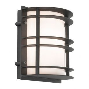 Norlys Stockholm Outdoor Flush Wall Light - Black