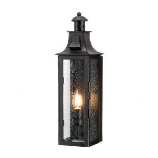 Elstead Stow Half Lantern Outdoor Wall Light - Old Bronze