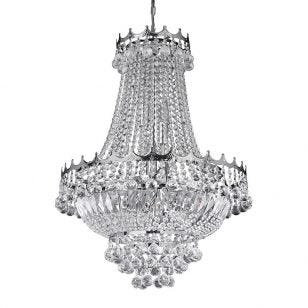 Searchlight Versailles 9 Light Chandelier - Chrome