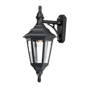 Elstead Kinsale Outdoor Hanging Lantern Wall Light - Black
