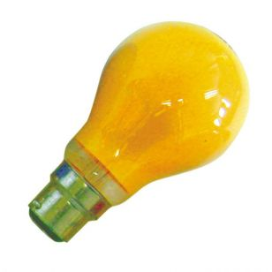 25W Coloured GLS Bulb - Bayonet - Amber