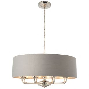 Endon Highclere 8 Light Ceiling Pendant Light - Charcoal
