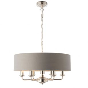Endon Highclere 6 Light Ceiling Pendant Light - Charcoal