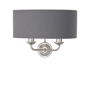 Endon Highclere Twin Wall Light - Charcoal