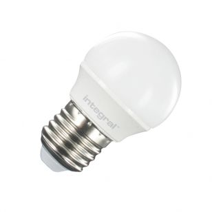 Integral 3.5W Warm White LED Opal Golf Ball Bulb - Screw Cap