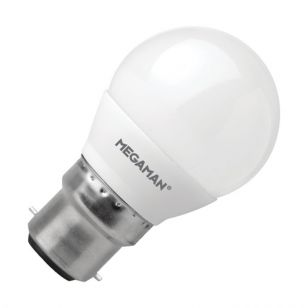 Megaman 3.5W Warm White LED Golf Ball Bulb - Bayonet Cap