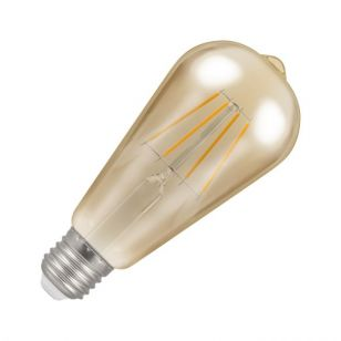 Crompton 5W Very Warm White Dimmable LED Decorative Filament Squirrel Cage Bulb - Screw Cap
