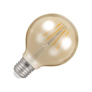 Crompton 5W Very Warm White Dimmable LED Decorative Filament 80mm Globe Bulb - Screw Cap