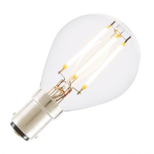 Tagra 4W Warm White Dimmable LED Decorative Filament Golf Ball Bulb - Small Bayonet Cap