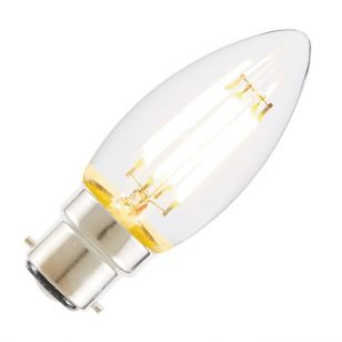 Tagra 4W Very Warm White Dimmable LED Decorative Filament Candle Bulb - Bayonet Cap