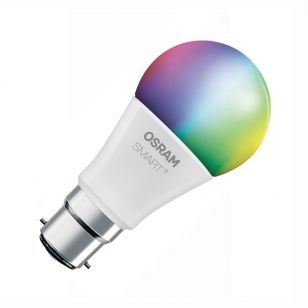 Osram Smart+ 10W White and Colour Changing LED WiFi GLS Bulb - Bayonet Cap