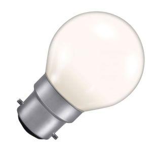 15W Coloured Golf Ball Bulb - Bayonet Cap - White