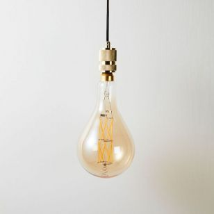 Eglo 8W Very Warm White LED Decorative Filament Large Pear Globe Bulb - Screw Cap
