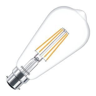 Phillips Classic 7W Warm White LED Decorative Filament Squirrel Cage Bulb - Bayonet Cap