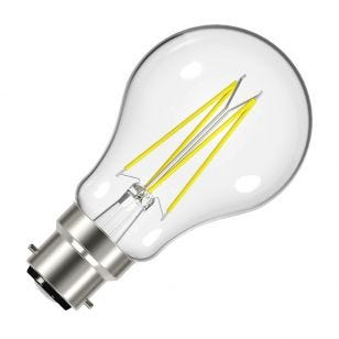 Value 6.2W Warm White LED Decorative Filament GLS Bulb - Bayonet Cap