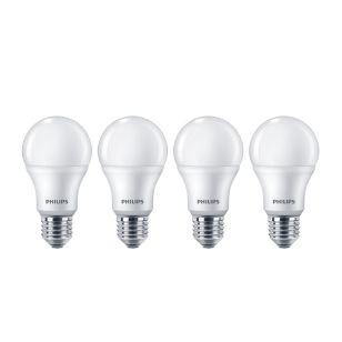 Philips 9W Warm White LED GLS Bulb - Screw Cap - Pack of 4