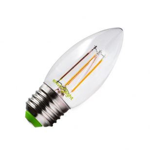 Envirolight 4W Warm White Dimmable LED Decorative Filament Candle Bulb - Screw Cap