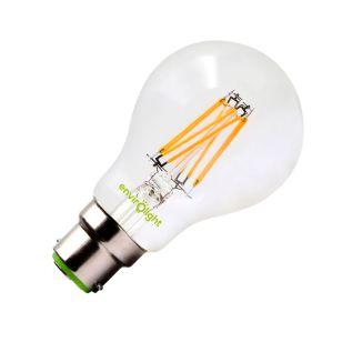 Envirolight 8W Warm White LED Decroative Filament GLS Bulb - Bayonet Cap