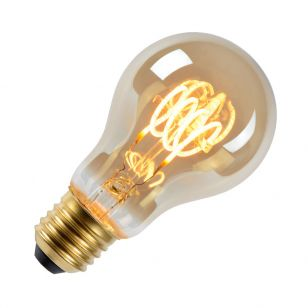 5W Very Warm White Dimmable LED Smoky Decorative Filament GLS Bulb - Screw Cap