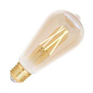 WiZ 6.5W White Changing Dimmable LED Decorative Filament Smart WiFi Amber Squirrel Cage Bulb - Screw Cap