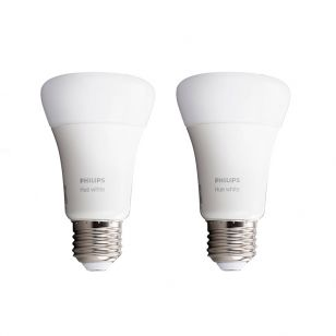Philips Hue 9W Warm White LED Dimmable Bluetooth GLS Bulb - Screw Cap - Pack of 2