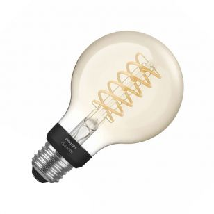 Philips Hue 7W Very Warm White LED Dimmable Bluetooth Decorative Filament 95mm Globe Bulb - Screw Cap