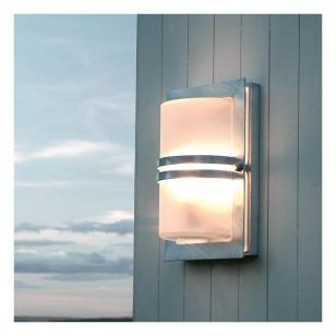 Norlys Basel Wall Light - Stainless Steel with Frosted Glass