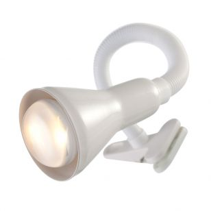 Searchlight Flex Clip On Desk Lamp - White