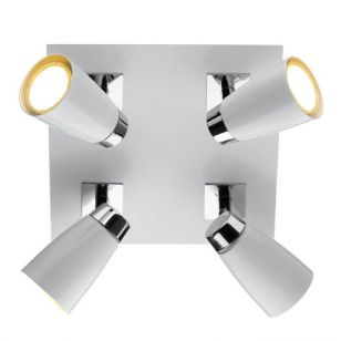 Dar Loft 4 Light Spotlight Plate - White