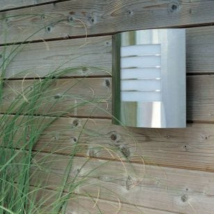 Massive Oslo Stainless Steel Outdoor Wall Light