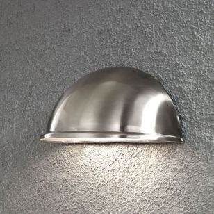 Konstsmide Torino Large Outdoor Wall Washer Light - Stainless Steel