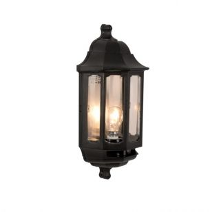 ASD Coach Half Lantern Outdoor Wall Light with Dusk to Dawn Sensor